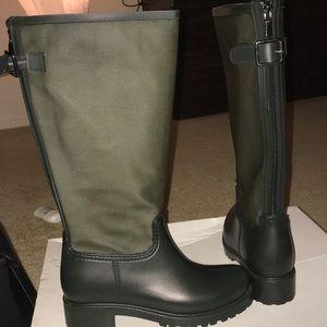 Olive green Aldo rain boots